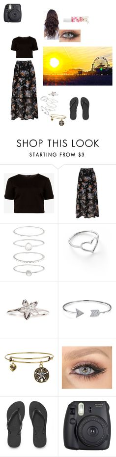 """""""Beach style"""" by gbaby1903 ❤ liked on Polyvore featuring Ted Baker, River Island, Accessorize, Jordan Askill, Isabelle Rowe, Bling Jewelry, Havaianas, Fuji and Blossom"""