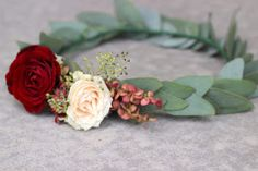 Blush and Merlot Bridal Floral Crown // Celebration Flair