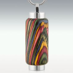 Oasis Wood Cylinder Memorial Jewelry - Engravable