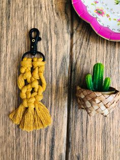 Excited to share this item from my shop: Mustard macrame Keyring/bagcharm Some Times, House Warming, Mustard, Macrame, I Shop, How To Find Out, Gift Wrapping, Etsy Shop, Drop Earrings