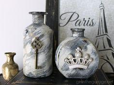 Embellished Glass Bottles