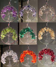Site - Choose your stone - Chakra Tree of Life Pendants