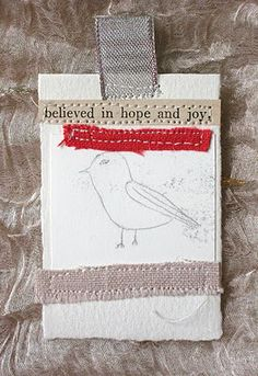 LOVE STITCHING RED: Hearts snowflakes and birdies