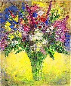Summer Flowers Against The Light by Ann Oram - 13620 Summer Flowers, Flower Art, Still Life, Vibrant Colors, Fine Art Prints, Ann, Artist, Poster, Painting