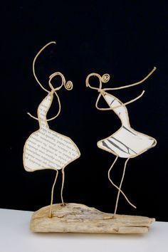 Les ballerines - figurines en ficelle et papier : Accessoires de maison par ficelleetpapier