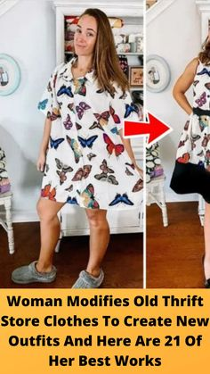 #Woman #Modifies Old Thrift Store #Clothes To Create New #Outfits And Here Are 21 Of Her #Best Works