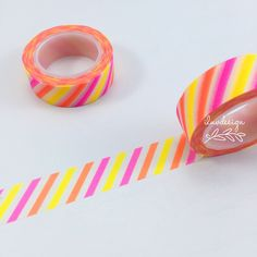 Neon Stripes Washi Tape. This tape is perfect to use on any of your paper projects! This tape is perfect for all paper projects! Use as a border to make unique scrapbook pages! This tape has the perfe