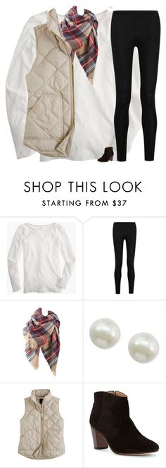 """""""Close to my exact ootn"""" by classynsouthern ❤ liked on Polyvore featuring J.Crew, Donna Karan, Majorica, Johnston & Murphy, women's clothing, women's fashion, women, female, woman and misses"""