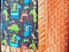 Minky Baby Blanket - Boy Baby Blanket - Baby Boy Blanket Custom Made. $49.00, via Etsy.