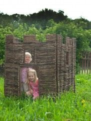 A cool hang out for year round fun. Handwoven from young hazel branches, this rustic looking castle is robust, hard-wearing and eco friendly. This item comes to you directly from the manufacturer; please allow up to 14 days for delivery. Outdoor Games, Outdoor Play, Outdoor Life, Outdoor Living, Kids Castle, Willow Weaving, Love Garden, Indoor Playground, Home On The Range