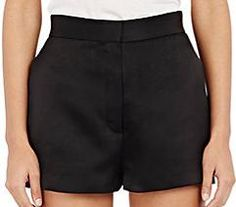 The Row Matte Satin Shors Shorts as seen on Fergie