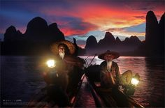 Photo Fantastic sunset at Li River, Guilin by Woosra Kim on 500px