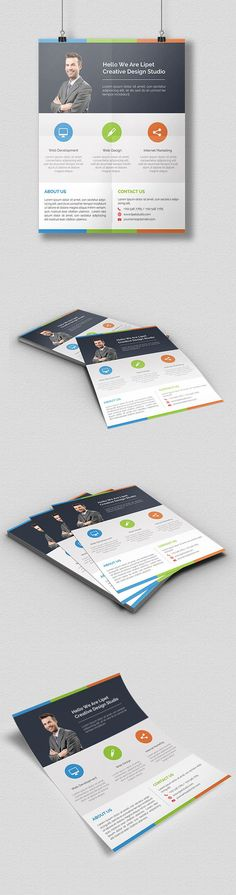 Freebies: Clean Corporate Flyer Free PSD on Behance