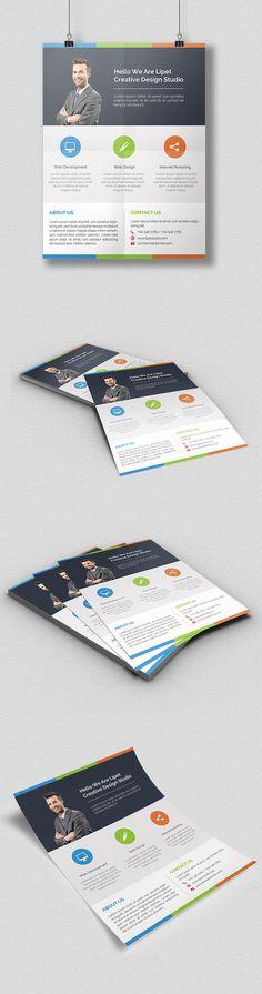 Freebies: Clean Corporate Flyer Free PSD on Behance