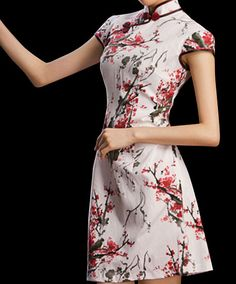 Chinese Cheongsam Qipao Gown Vintage Cocktail by OrientalGrace 96f93f73bade