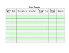 Balance Your Checkbook With This Large FullPage Check Register
