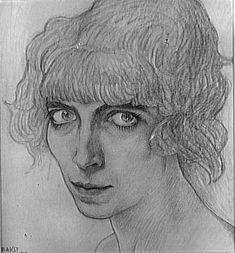 Portrait de Luisa Casati par Leon Bakst