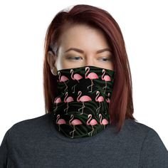 Flamingo Tshirt, Flamingo Gifts, Flamingo Pattern, Flamingo Print, Buy Mask, Neck Warmer, Cute Pink, Fabric Weights, Online Gift