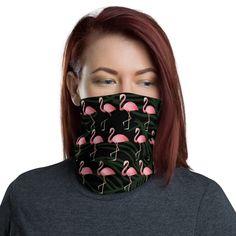 Flamingo Tshirt, Flamingo Gifts, Flamingo Pattern, Flamingo Print, Buy Mask, Neck Warmer, Cute Pink, Woman Face, Fabric Weights