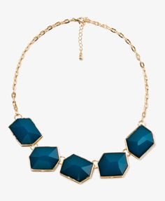 Faceted Faux Stone Necklace   FOREVER21 - 1021288081