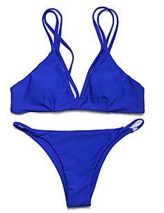 Egyszínű+Megkötős+Női+Bikini+Spandex+–+USD+ +9.99 Bikini 2f0b601078