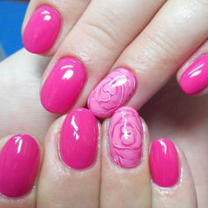Gentle nail art with roses :: one1lady.com :: #nail #nails #nailart #manicure