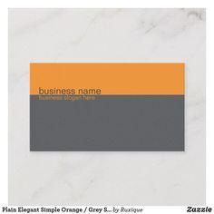 Shop Plain Elegant Simple Orange / Grey Stripe Business Card created by Ruxique.