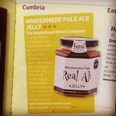 Award winning Windermere Pale Real Ale jelly featured in the Great Taste 2013-14 guide! #greattasteawards #gold #alejelly @hawksheadbrewery