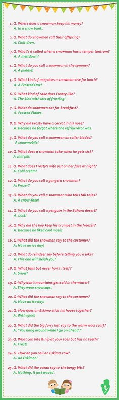 25 Funny Winter (Snowman) Jokes For Kids - Jokes - Funny memes - - Snowman & Winter Jokes The post 25 Funny Winter (Snowman) Jokes For Kids appeared first on Gag Dad. Funny Jokes For Kids, Silly Jokes, Dad Jokes, Christmas Humor, Christmas Fun, Christmas Jokes For Kids, Christmas Quotes, Office Christmas, Snowman Jokes