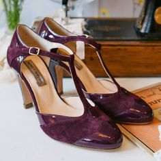 elsie suede and patent t bar shoes by agnes & norman | notonthehighstreet.com