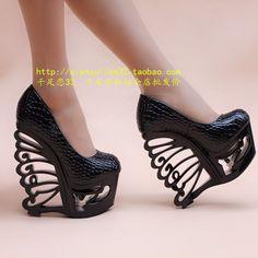 unique heels | ... pumps night club wedges sexy high heel shoes unique coarse shaped