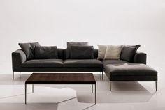 Contemporary corner sofa by Antonio Citterio MICHEL B&B Italia
