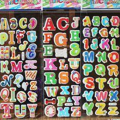 Pegatinas de Letras de dibujos animados para Niños y Niñas de Bebé Vinilo Decorativo Pegatinas De Espuma de Desarrollar la inteligencia