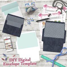 DIY Envelope Template, A7 5x7 Envelope Template, Digital Download ...
