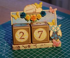 Dobbelsteenkalender Papel Scrapbook, Paper Crafting, Stampin Up, Decorative Boxes, Tutorials, Frame, Projects, Crafts, Home Decor