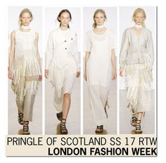 """LFW ' 16 : Pringle of Scotland SS 17..."" by nfabjoy ❤ liked on Polyvore featuring Pringle of Scotland and runway"