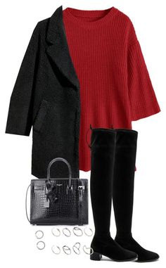 """""""Untitled #4906"""" by theeuropeancloset on Polyvore featuring H&M, Free People, Yves Saint Laurent and ASOS"""