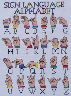 Sign Language Alphabet by ladybugdesigns1995 on Etsy