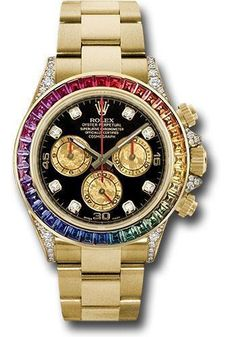bed73789230 Rolex Oyster Perpetual Cosmograph Daytona Rainbow 116598 RBOW 40mm 18K  white gold case set with 56