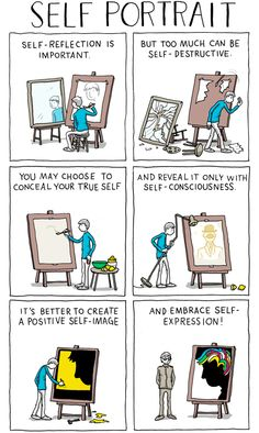 "Cartoonist and illustrator Grant Snider of Incidental Comics has created ""Self Portrait,"" a comic that shows the many ""innovative ways"" of representing oneself. This comic is part of Grant's ongoin..."