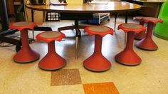 Stress ducks, Hokki Stools and other classroom strategies for students who need to move to learn. Classroom Stools, Classroom Setup, Classroom Design, Future Classroom, School Classroom, Primary Teaching, Teaching Tools, Teaching Ideas, Teaching Career
