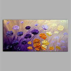 Pintada a mano Abstracto Floral/Botánico Horizontal, Modern Lona Pintura al óleo pintada a colgar Decoración hogareña Un Panel 2018 - $917.39