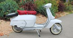 """A rare find and a real """"blue chip"""" of all the classic scooters, the 1967 Lambretta SX 200 is a true gem. These were sold in the U.S., but they are very hard to find. We uncovered it in a private collection in Italy last year. As soon as we saw it, we knew it was a good one. Now for sale on our website. #VintageScooter #Vespa #VintageScooterStore #VintageScooterService #Scooterholic #SanFrancisco #ForSale #VespaStyle #VintageVespa #ItalianClassic #VespaHobby #VintageStyle #VintageCollector Scooter Store, Retro Scooter, Lambretta Scooter, Vespa Scooters, Honda Ruckus, Classic Italian, Vintage Fashion, Things To Come, San Francisco"""