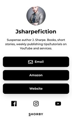 Suspense author J. Sharpe. Books, short stories, weekly publishing tips/tutorials on YouTube and services. Authors, Writers, Amazon Website, Book Writer, Short Stories, Landing, Tutorials, Books, Tips