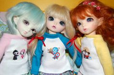 The girls showing off their new shirts (MelancholyWings) Tags: pattern tutorial…
