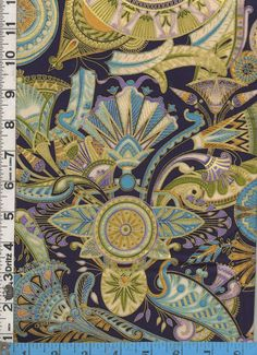 Fabric Kaufman VALLEY of the  KINGS EGYPTIAN Tapestry Style printed design Dawn colorway Metallic gold accents oop Rare 1/2 yard incr. $19.99 for 1/2 yard (more available)