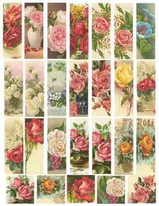 Vintage Roses Printable Sheet