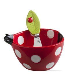 Look what I found on #zulily! Ladybug Bowl & Spreader Set #zulilyfinds