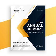 Elegant yellow business annual report te...   Free Vector #Freepik #freevector #arrow #books #geometric #layout Annual Report Covers, Cover Report, Annual Report Design, Annual Reports, Business Brochure, Business Flyer, Dossier Sponsoring, Page Design, Web Design