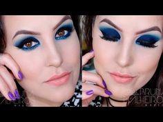Maquiagem Azul Balada com delineado GLITERINADO - YouTube